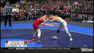 141 lbs. Final - 2018 NCAA Wrestling Champ. 3 Diakomihalis (COR) vs 1 Meredith (WYO) March 17, 2018