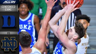 Duke vs. Notre Dame Condensed Game | 2020-21 ACC Men's Basketball