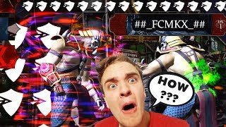 MKX Mobile. THE CRAZIEST HACKER I'VE EVER SEEN! Level 1 Hacker with INSANE Effects! FCMKX