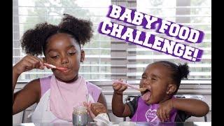 BABY FOOD CHALLENGE WITH A BABY! | Yoshidoll