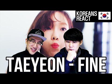 TAEYEON - FINE Reaction!