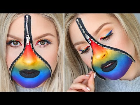 Release Your Rainbow! ? Colorful Zipper & Eyeliner Tutorial