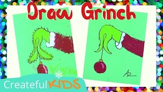How To Draw the Grinch Holding an Ornament