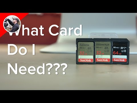 """SD Card Speeds for Video - New """"V"""" Class Ratings"""
