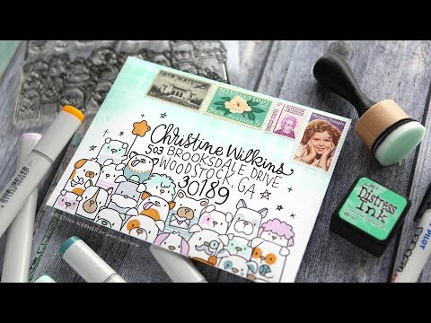 LOTS OF DOGS! Monthly Mail Art Custom Envelope – Simon Says Stamp