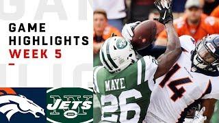 Broncos vs. Jets Week 5 Highlights   NFL 2018
