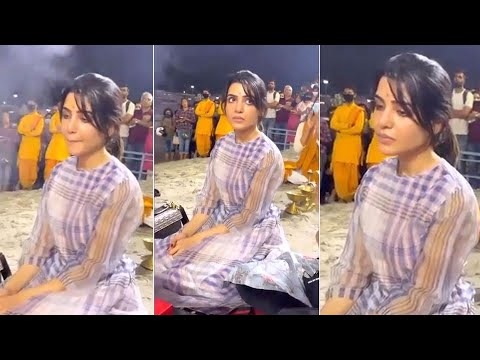 Samantha participated at Ganga Aarti in Rishikesh