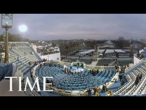 Donald Trump Inauguration Time-Lapse At Capitol In VR   360 Video   TIME