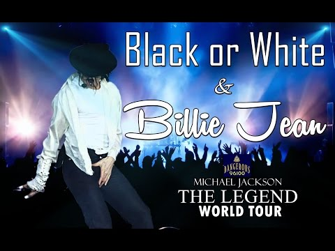 Michael Jackson - Black or White   Billie jean - The Legend World Tour