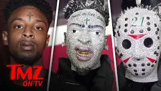 21 Savage: Issa 100-Carat Diamond Chain Of My Face! | TMZ TV