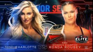 Charlotte Flair Vs Ronda Rousey Wwe Survivor Series 2018 Official Match Card
