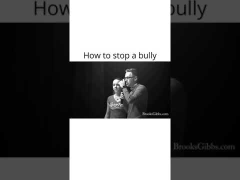 How to stop bullying...