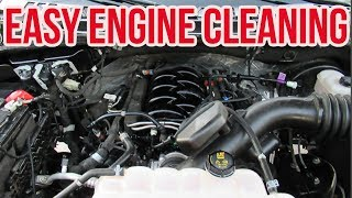 HOW TO CLEAN YOUR ENGINE - NO WATER NO SCRUBBING