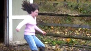 Hannah Falling in Mud