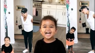Tamera Mowry teaching her daughter Ariah how to sing and act | Plus more cute clips