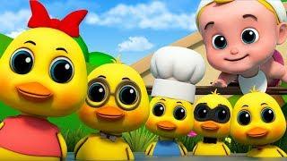 Five Little Ducks | Junior Squad Nursery Rhymes | Cartoons by Kids TV