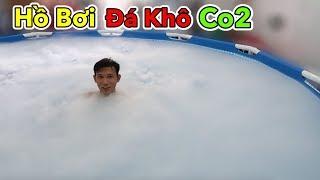 Lamtv - Thử Tắm Hồ Bơi Đá Khô CO2 Khổng Lồ Ngay Giữa Nhà | Drop Dry Ice in POOL