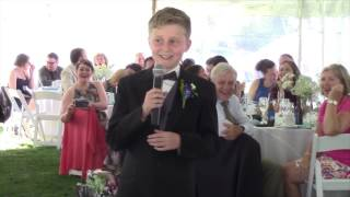 11 year old nephew's funny best man speech