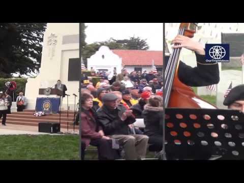 Pictures of Memorial Day Commemoration at Presidio National Cemetery, San Francisco, CA, USA