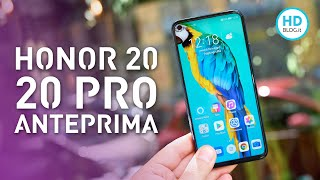 HONOR 20 Pro e HONOR 20: design, colore e dimensioni convincono   ANTEPRIMA