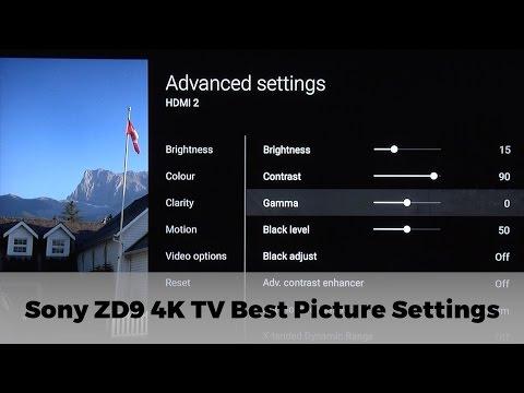Sony ZD9 4K UHD TV Best Picture Settings
