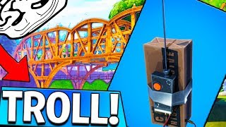 TROLLING PLAYERS WITH THE C4 BRIDGE TRAP In Fortnite Battle Royale!!