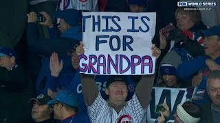 WS2016 Gm5: Cubs fans sing 'Go Cubs Go' after win