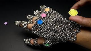 Amazing THANOS gauntlet made out of 1,728 magnets