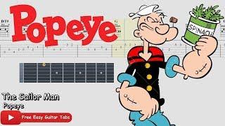 (Popeye) The Sailor Man - guitar tab free