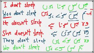 Present simple tense in Urdu grammar | English Urdu speaking course | Learn Urdu through English