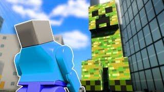 CREEPER SURVIVAL! - Brick Rigs Multiplayer Gameplay - Lego Minecraft Survival Challenge