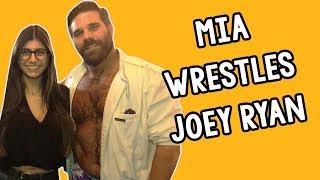 Mia Khalifa Wrestles Joey Ryan