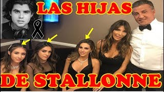 ASI VIVEN LAS 3  HIJAS DE SILVESTER STALLONE