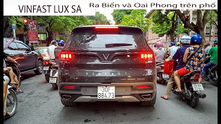 Vinfast Lux SA 2.0 ra biển trắng OAI PHONG lăn bánh trên phố Hà Nội