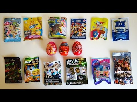 Surprise Eggs Amp Blind Bags Barbie Disney Cars Lego Movie