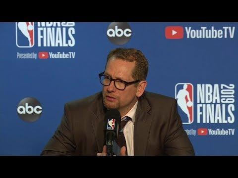 Nick Nurse Postgame Interview - Game 3 | Warriors vs Raptors | 2019 NBA Finals