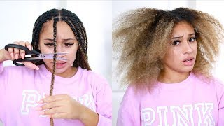 Cutting Out My Braids! My Routine