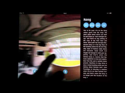 "Flipping through the iPad app magazine ""junction"""