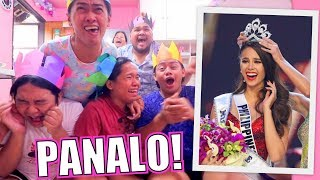 MISS UNIVERSE 2018 REACTION VIDEO (PANALO SI CATRIONA GRAY!!) | LC VLOGS #215