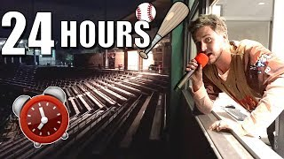 24 HOUR OVERNIGHT CHALLENGE IN BASEBALL STADIUM!