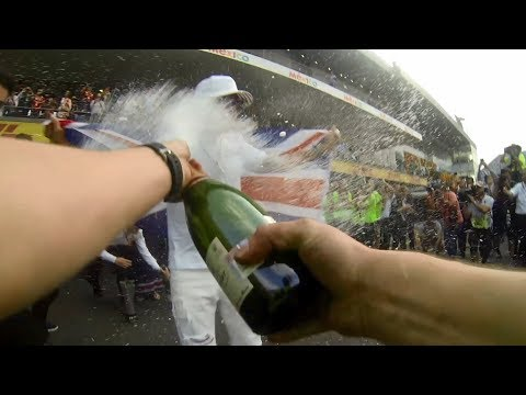 Lewis Hamilton F1 Champagne Celebrations: First Person View!