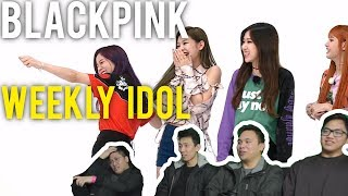 BLACKPINK on Weekly Idol while eating KFC (Full with Eng subs)
