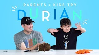 Parents & Kids Try Durian Together | Kids Try | HiHo Kids