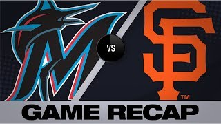 3 Giants combine for 4-hit shutout | Marlins-Giants Game Highlights 9/13/19