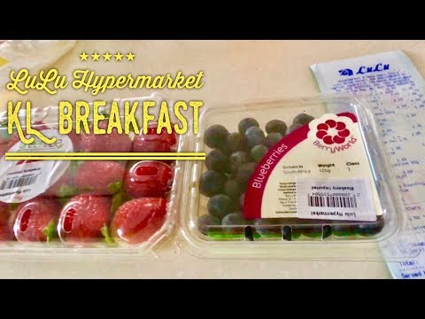 Lulu Hypermarket KL Haul and Breakfast: Blueberries, Strawberries, Vegetable Kolhapur etc.