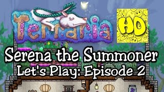 Terraria Summoner Playthrough, Part 2: The Statue of Slime (1.3 prep let's play)