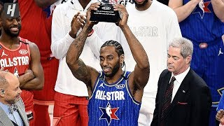 Kawhi Leonard Wins Kobe Bryant MVP Award - 2020 NBA All-Star Game
