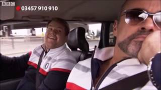 George Michael in James Corden's first Carpool Karaoke for Comic Relief