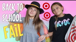 BACK TO SCHOOL CLOTHING HAUL FAIL (TARGET) | Piper Rockelle
