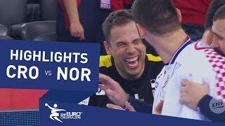 Highlights   Croatia vs Norway   Men's EHF EURO 2018